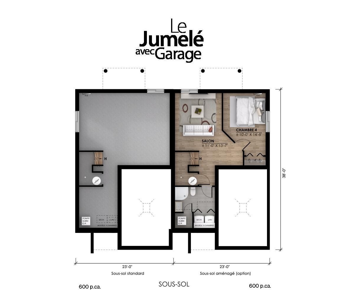 plan garage sous-sol pi2