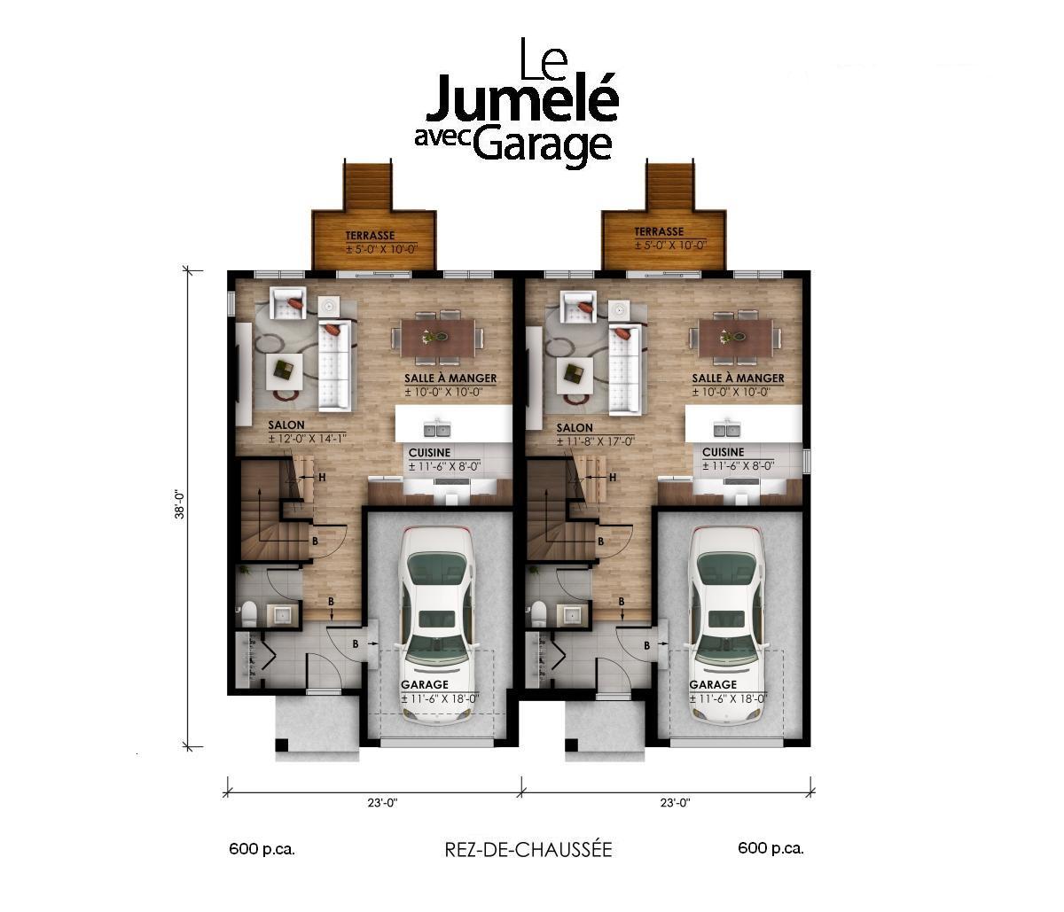 plan rdc garage pi2